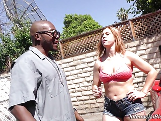 White daughter Edyn gangbanged by black mechanics