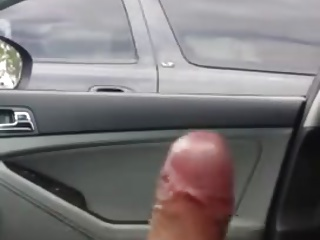 amazing Cumshot driver look my cock excited