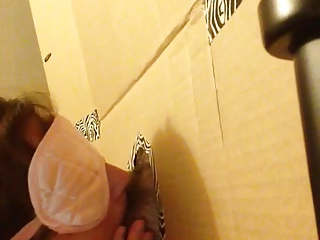 home made glory hole blowjob