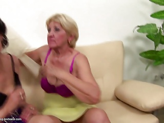 Young insane lesbian fuck and piss on grannies