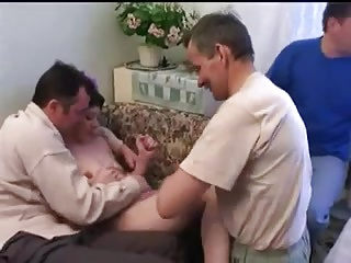 STP1 Skinny Teen Comes Home To Five Older Fuckers !