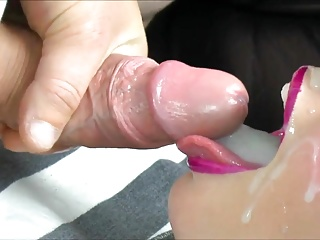 Cum in mouth and swallow