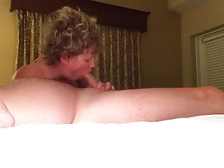 Wife caught on cam giving hubby's friend a blowjob