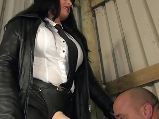 Mistresses punish a naughty boy