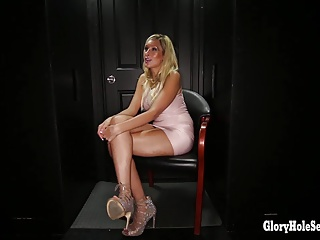 Gloryhole Secrets Hollywood girl swallows 11 strangers cum