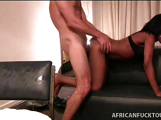 Booty tight ebony pounded in homemade