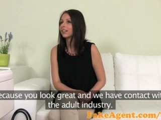 FakeAgent Shy brunette gets pussy pounded in Casting interview