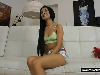 Shooting a teen anal casting with Sandra…