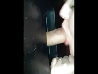 Amateur hot wife works a cock to get a mouthful