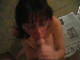 Obedient Wife Swallows A Load Of Cum
