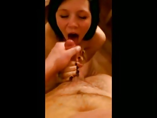 Cum on her face and play