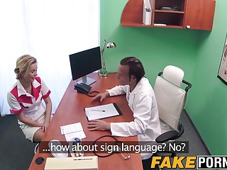 Hot blonde nurse Nikky needs to save her job.
