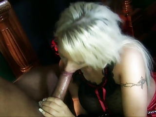 Amorous chics gets pinned with huge penises in a thrilling orgy