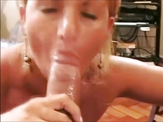 Brazilian Facials – Milf Blonde takes a Big cumshot
